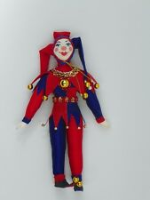 """A great toy . 6"""" clown in red/blue costume .Porcelain face and hands. New."""