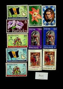 BARBADOS EASTER 5th ANNIV OF INDEPENDENCE FLOWERS 11v MH STAMPS