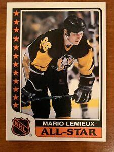 Mario Lemieux 1986 Topps sticker All Star #9  - NRMNT - PENGUINS