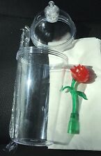 Disney Disneyland Beauty and The Beast Belle Light Up Rose Sipper cup *Damaged*