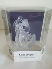 Wilton Industries Inc. Bianca Clear Cake Topper Wedding Couple 202-424 New