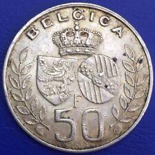 Belgique 50 Francs Baudouin, Mariage Du Roi Argent #1469