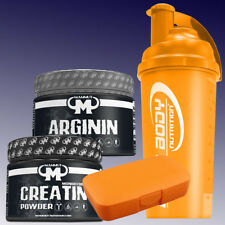 33,32 €/kg) Mammut L Arginin 300g + Creatin 300g + Shaker u. Pillenbox in Orange