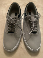 Tommy Hilfiger Men's Pallet Light Grey Canvas Sneakers. Size: 8 NWOB