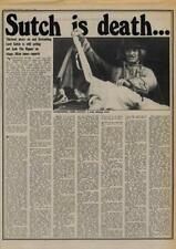 Lord Sutch is death... Interview/article 1976