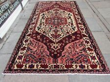 Vintage Hand Made Traditional Oriental Wool Red Pink Large Rug Carpet 281x154cm