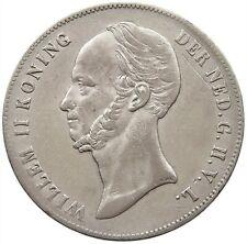 NETHERLANDS 2 1/2 GULDEN 1849 #t83 283