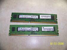 Sansung 8GB (2x4gb) DDR3 PC3L-12800U DDR3 Non ECC Desktop DIMM Memory
