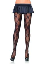 Leg Avenue Ladies Black All Over Bow Lace Pantyhose Fashion Tights One Size