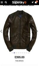 SUPERDRY IE leather flight bomber jacket