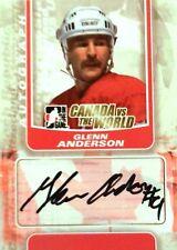 11-12 itg game canada vs world glenn anderson team autograph auto