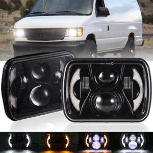 "2pcs 5x7"" 7x6 LED Headlight Hi/Lo DRL Beam for Ford E-100 E-150 E-250 E-350 120W"