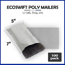 100 5x7 Ecoswift Poly Mailers Plastic Envelopes Shipping Mailing Bags 17mil