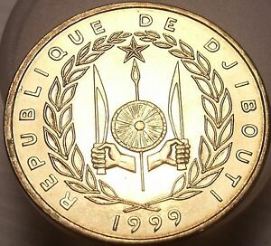 Exremely Rare Gem UNC Djibouti 1999-A 10 Francs ~ Seulement 1,800 Minted