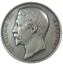 New listing 1851 Napoleon Iii - Societe Imperiale Et Centrale D' Horticulture silver 51mm