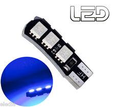 1 Ampoule W5W T10 6 LED BLEU Plafonnier Coffre sol Miroir courtoisie Boite gants