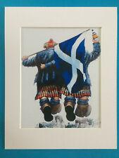 "Alexander Millar ~ Tartan Army Cheers  ~ Art Mounted Picture 14x11"" FREE P&P"