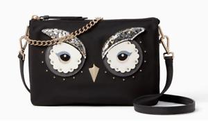 Kate Spade star bright owl madelyne Nylon Crossbody Chain Clutch ~NWT~ $249