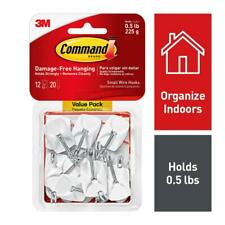 Command Wire Hooks Value Pack, Small, White, 12-Hooks 17067-12ES
