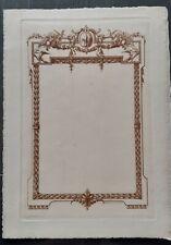 Fleur de Lys+Gravure avant la lettre+Hector Maquet+Epreuve+Papier Impératrice