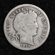 1910-D Silver Barber Dime Good Free Shipping