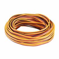 28FT/8.5Meter 22AWG Servo Wire 3P Line Extension Cable 60 Core Brown/Red/Orange