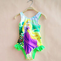 Girls Kids Character Swimwear Swimming Costume Swimsuit Bikini Tankini Age 2-10Y