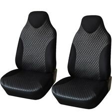 2PCS Car Seat Cover Front PU Leather Universal Auto Sport Headrest Seat Cover
