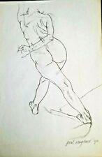 ORIGINAL FINE ART NUDE LARGE CHARCOAL DRAWING by PAUL WAGENER (AMERICAN b. 1918)