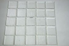 "25 -Clear 1 1/8"" x 1 1/8"" 3mm Thick Squares Of Bullseye Glass 90 Coe"
