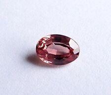 Safir  Saphir  rot  weinrot  rose - rot  Afrika  oval  1,24 Carat  7,5 x 5,2 mm