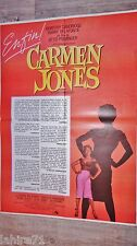 CARMEN JONES ! otto preminger affiche cinema 1954