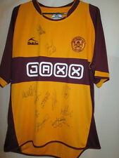 Motherwell 2008-2009 Squad Signed Home Football Shirt with COA 20613