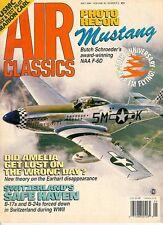 AIR CLASSICS V30 N5 WW2 USAAF F-6D / MARION CARL D-558 / SWIUSS B-17 B-24