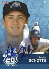 Austin Schotts 2013 West Michigan Whitecaps Signed Card
