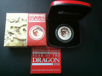 2012 Year of the Dragon 1/2oz Coloured Silver Coin Perth Mint