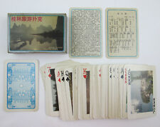 Vintage Guilin China Tourism Picture Playing Cards Complete Deck Chinese Market