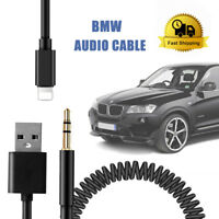 Y Cable Lead USB Audio AUX Adapter Interface For BMW MINI Ipod Iphone 5 6 7 8