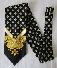 ***GIANNI VERSACE CRAVATTA TIE in SETA 100% Fantasia Geometrica  Cod.AS