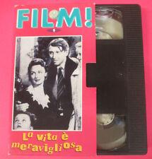 VHS film LA VITA E' MERAVIGLIOSA Frank Capra FILM 9 ERI RAI FONIT (F107*) no dvd