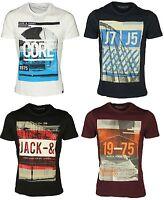 Jack & Jones Mens Short Sleeve Slim Fit T Shirt Crew Neck Casual Tee Shirts