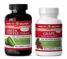 Antiaging vitamin c - GREEN COFFEE EXTRACT – GRAPE SEED EXTRACT COMBO - grape