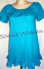 Plus Size 100% Cotton Solid Short Sleeve Tops & Blouses for Women