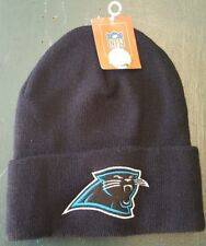 NEW Reebok Carolina Panthers Official NFL Beanie One Size Knit Cuffed Cap Hat
