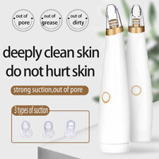 Electric Blackhead Remover Pore Vacuum Suction Dermabrasion Face CleanerBLUS