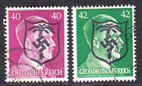 GERMANY 520, 529 AFRIKAKORP OVERPRINT CDS F/VF TO VF
