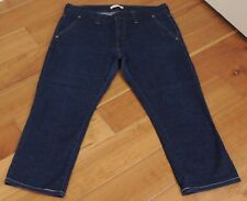 Womens Levis Low Skinny 545 Capri Cropped Trouser Stretch Jeans Sz 14  <INV181>