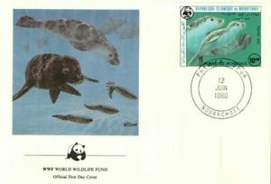 (70317) Mauritania WWF FDC Seals 1986