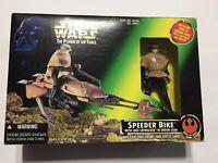 Star Wars Speeder Bike Luke Skywalker Power of the Force Endor Gear (POTF) 1996
