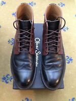 Oliver Sweeney Men's Black Tan Brown Leather Lace Up Boots UK 9 US 10 43 Danby